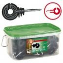 Izolátor pro elektrické ohradníky AKO 131 kruhový s vrutem 5 mm