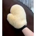Rukavice z jehněčí kůže pro lesklou srst, elastická manžeta