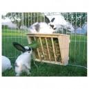 Jesle na seno pro králíky, dřevěné